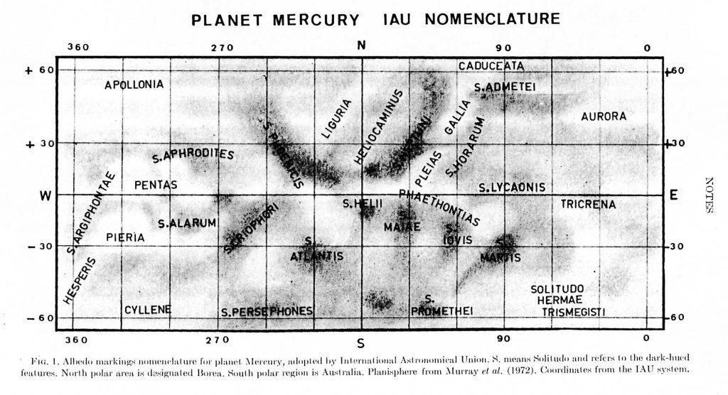 Albedo Map of Mercury, 1978