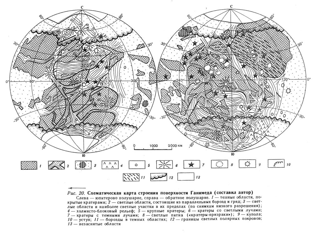 G.A. Burba's Ganymede Map with Nomenclature