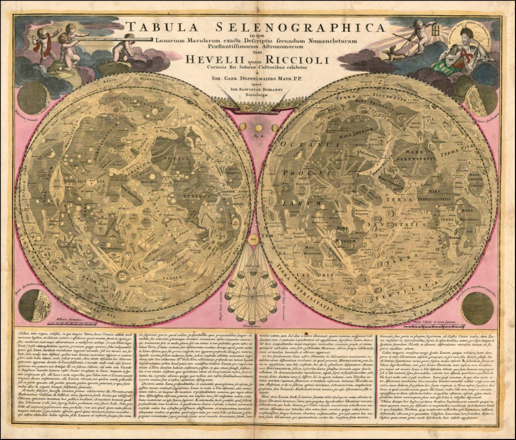 Dopplemeyer's double Map of the Moon