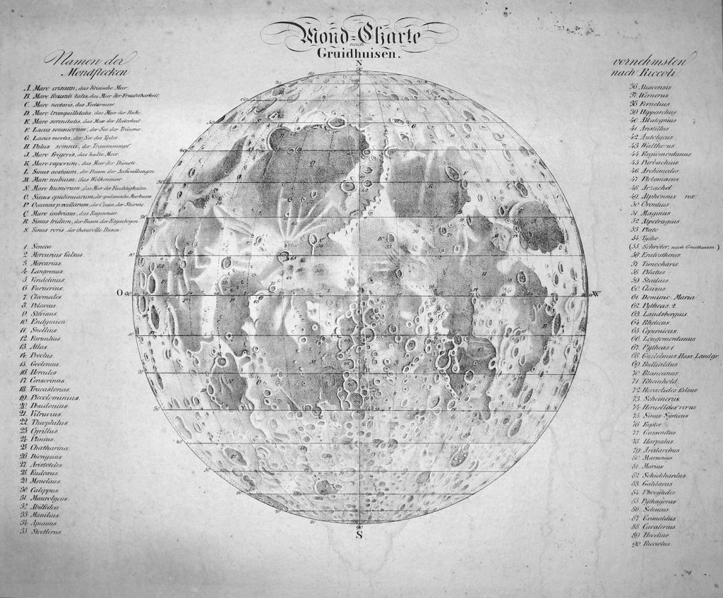 Gruithuisen's Map of the Moon