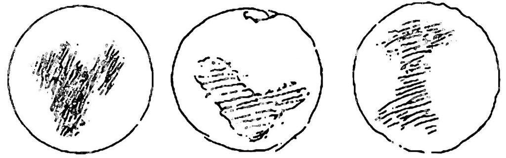 Huygens' drawing of Mars