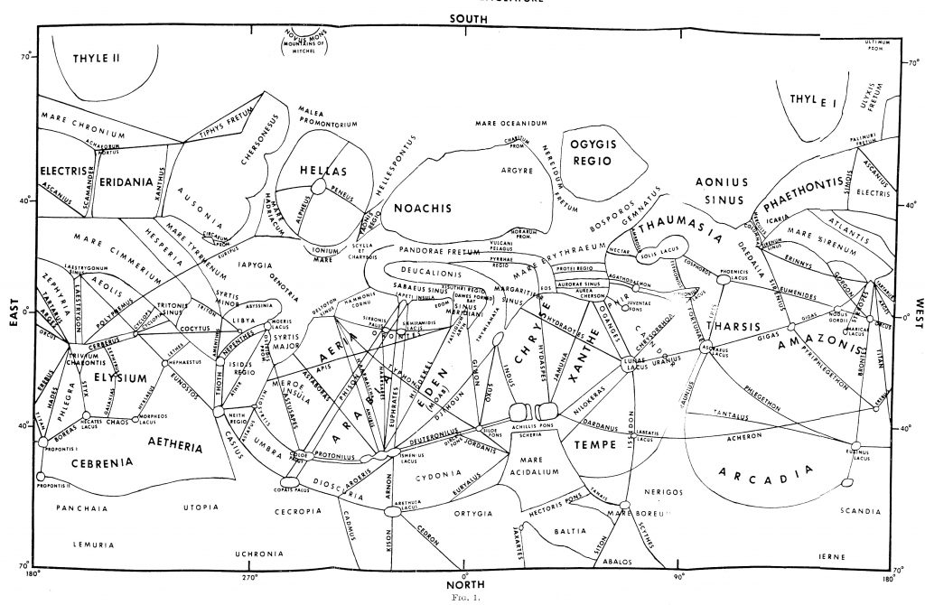 R.A.Wells' Map of Mars (1971)