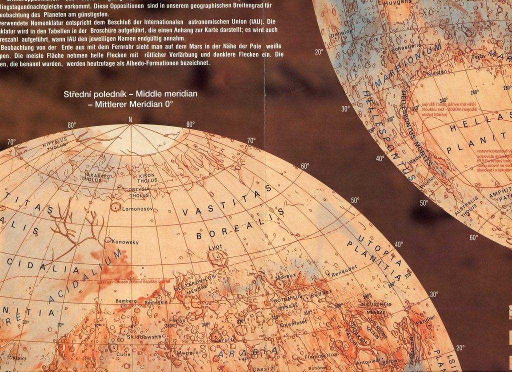 Pavel Příhoda's Map of Mars (2000)