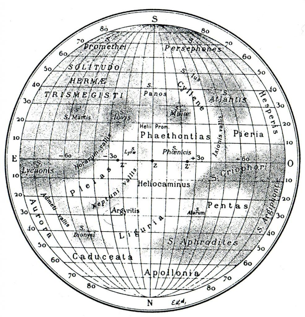 Antoniadi's Map of Mercury (1934)