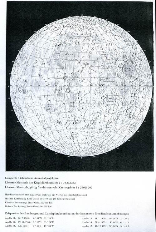 Swiss World Atlas Map of the Moon