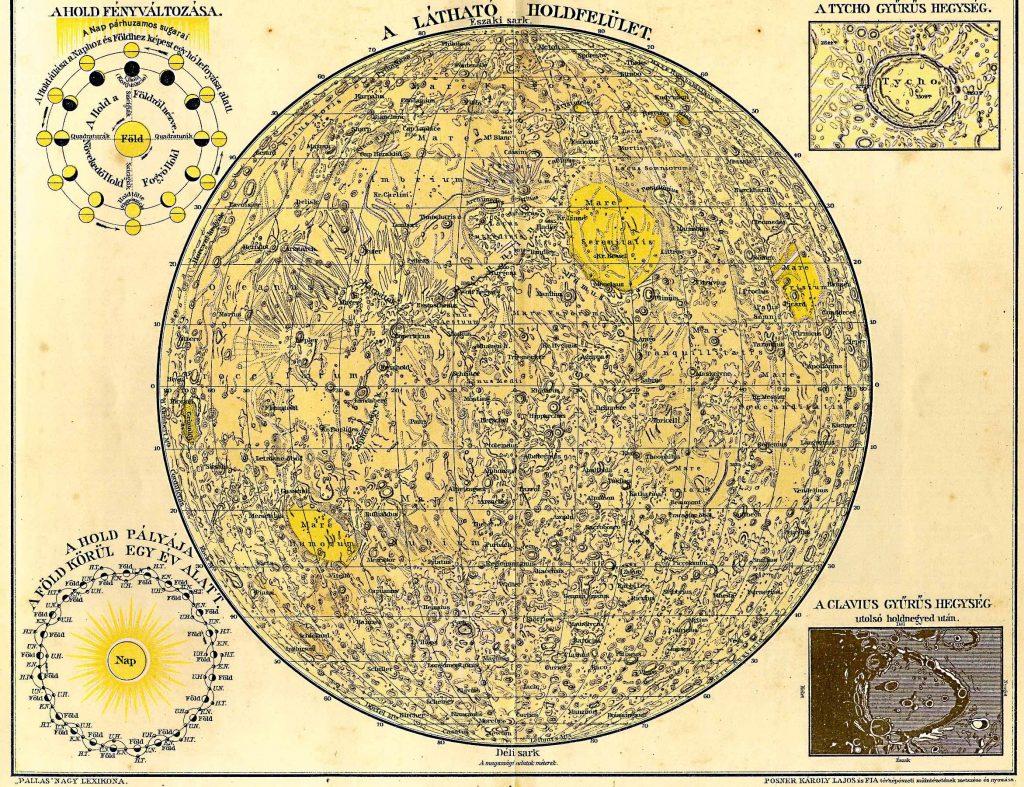 Pallas Nagylexikon Moon Map (1893-1897)