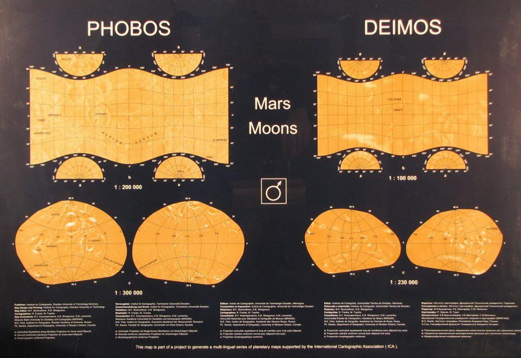Dresden map of Phobos and Deimos (2005)