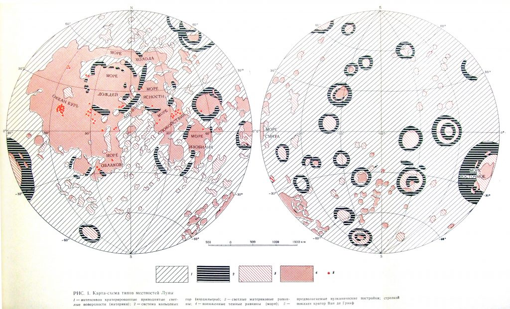 Morphologic provinces of the Moon (1981)