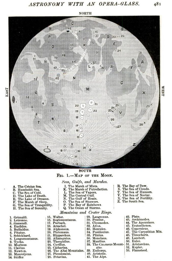 Moon map in Popular Science (1887)