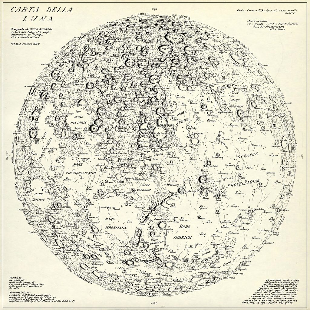 Rugierri's map of the Moon (1958)