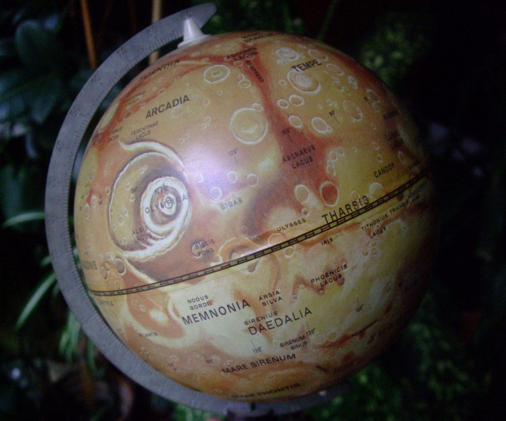 Globe of Mars, Tolman (early 1970s)