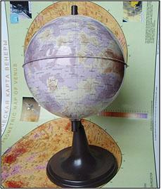 Hypsometric Globe of Venus (2011)