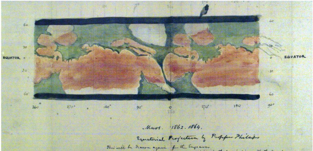 Philips' Mars Map (1865)