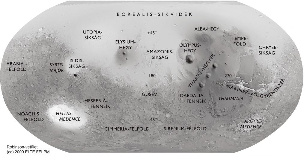 Robinson small scale Mars map series