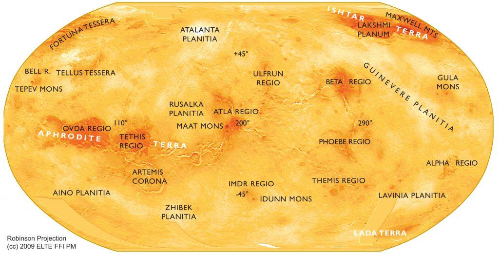 Small-scale Robinson map of Venus (2009)