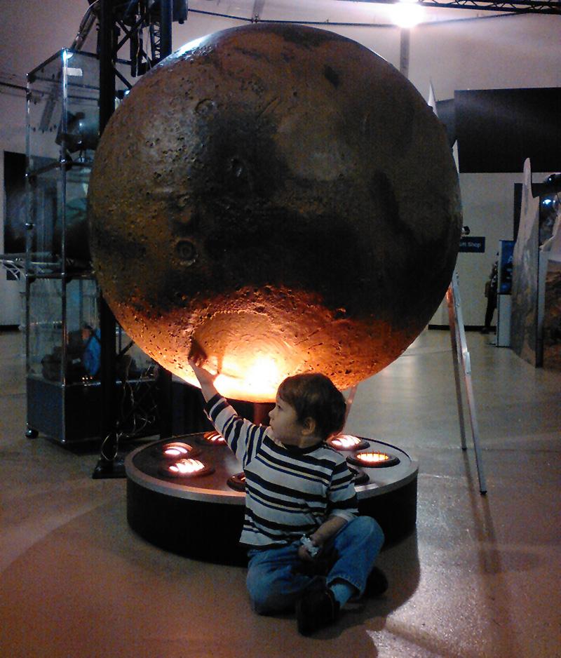 Mars Globe at Ames Visitor Center