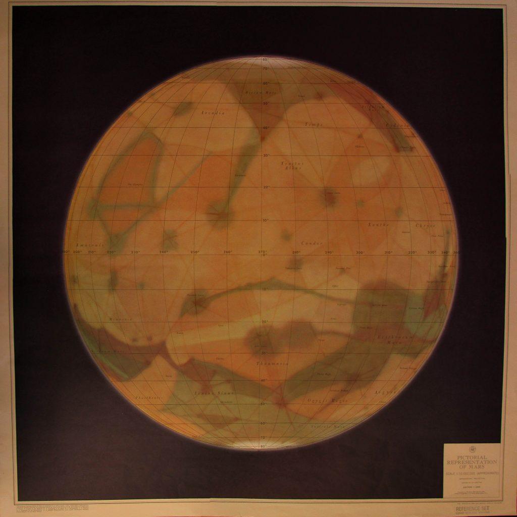 Pictorial Representation of Mars