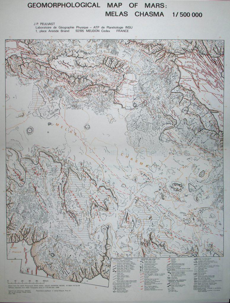 Geomorphological map of Mars, Melas Chasma