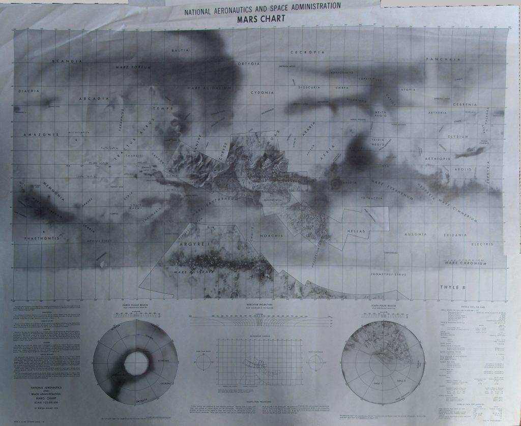 NASA Mars Chart 1970 (Mariner 6-7 results)