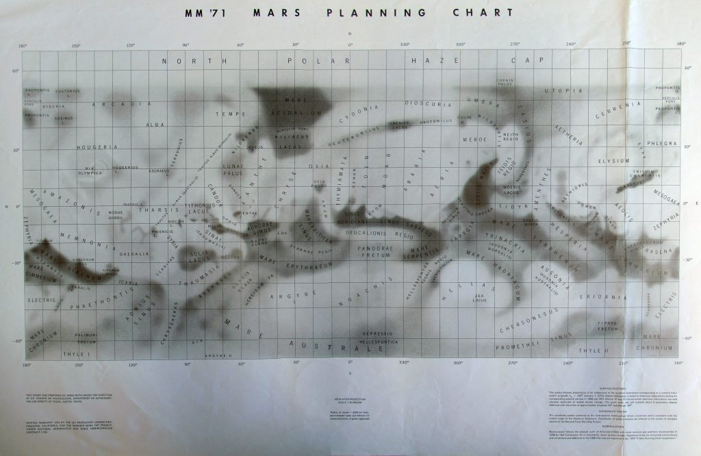 MM 71 Mars Planning Chart