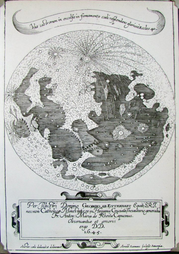 Schyrle's map of the Moon (1645)