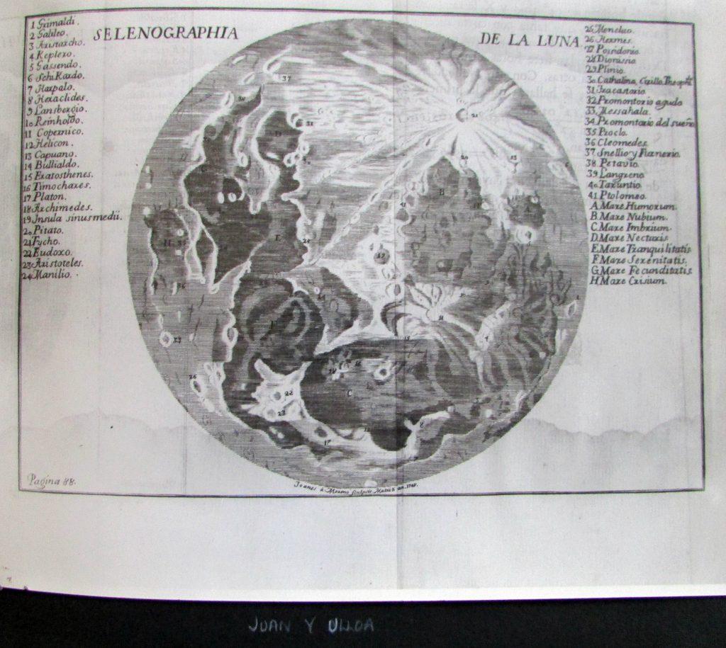 Ulloa's map of the Moon