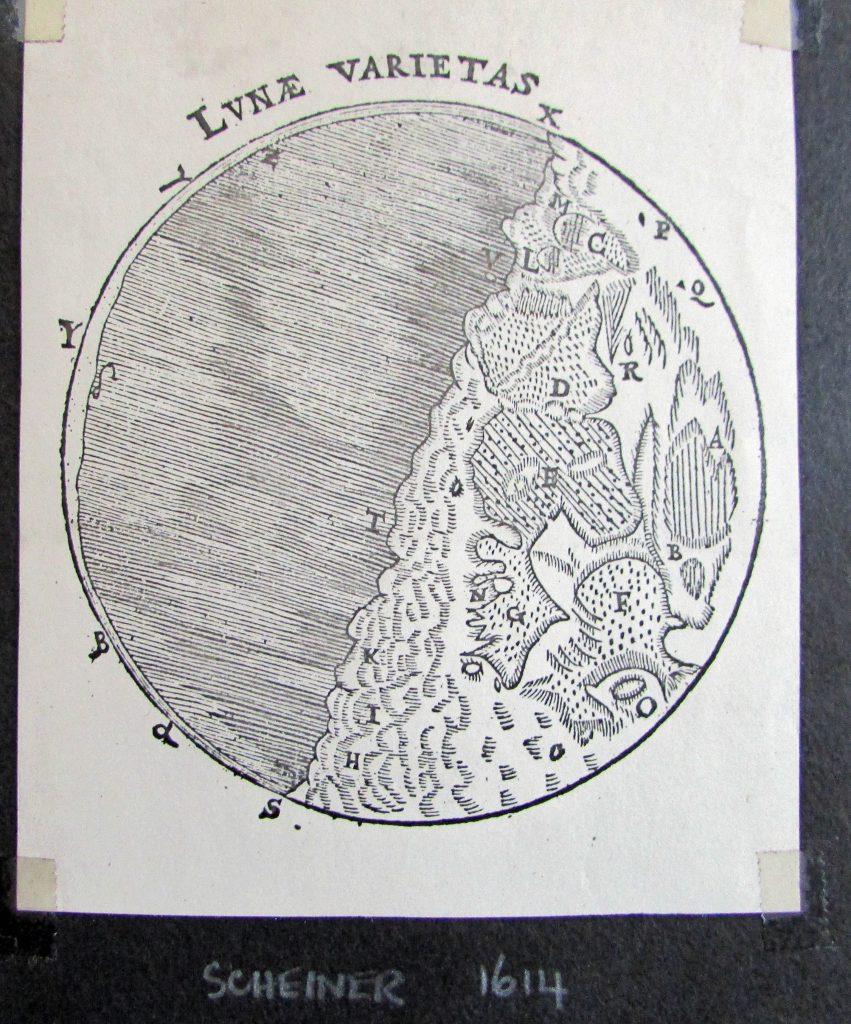 Scheiner's map of the Moon (c. 1614)