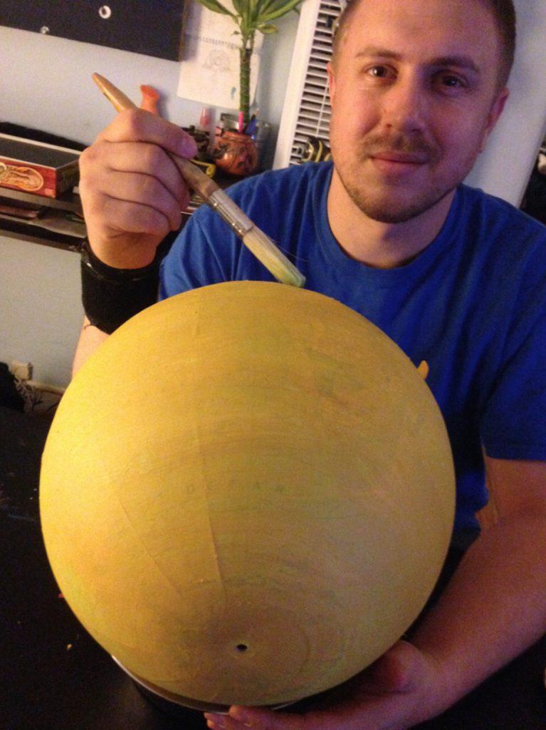 Hand-painted Globe of Io