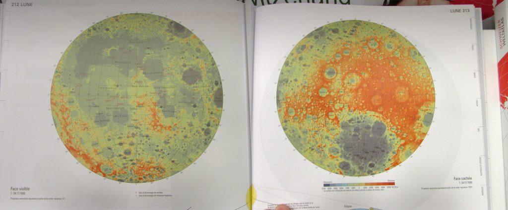 Map of the Moon, Swiss World Atlas (2016)