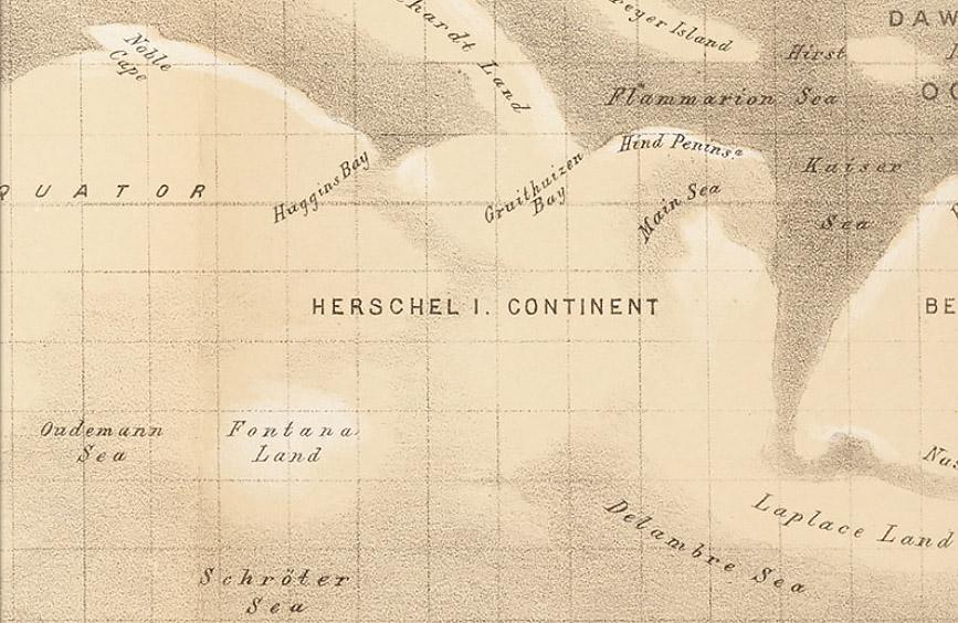 Map of Mars (Green, 1877)