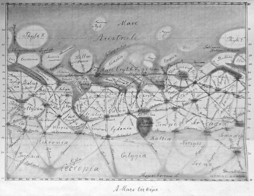 Lukács' map of Mars (1904)