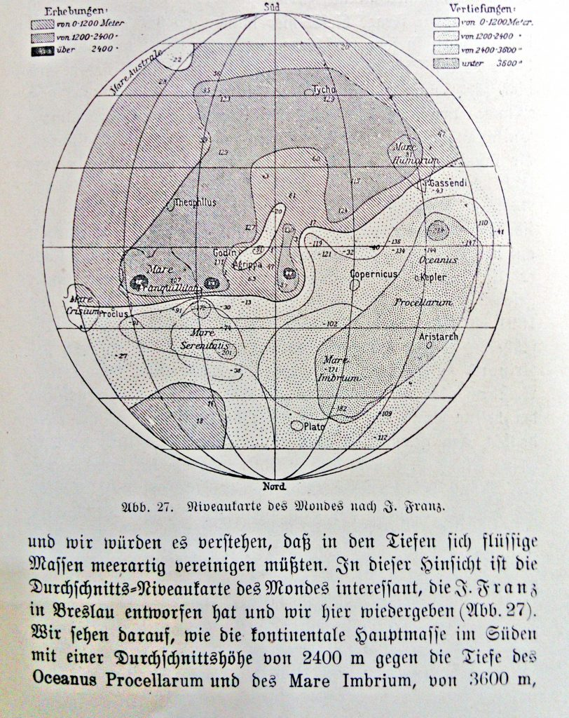Franz's Contour Map of the Moon (1899)