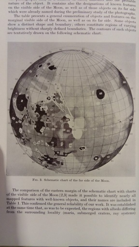 Pulkovo Observatory Far Side Chart of the Moon (1961)