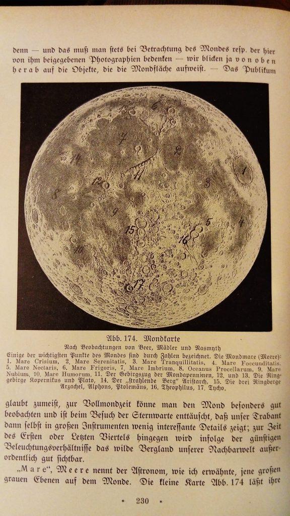 Bruno Bürgel's Moon map (1924)
