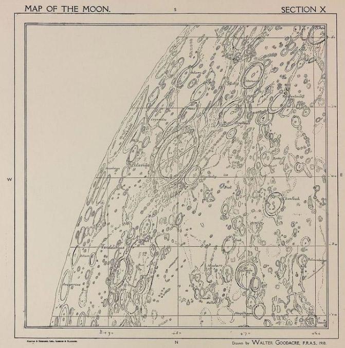 Goodacre's Maps of the Moon (1910)