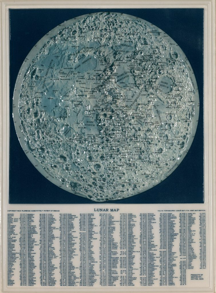 Rico's raised relief Moon map