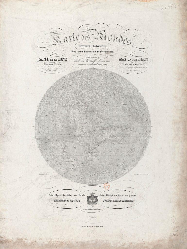 Lohrmann's map of the Moon (1838)