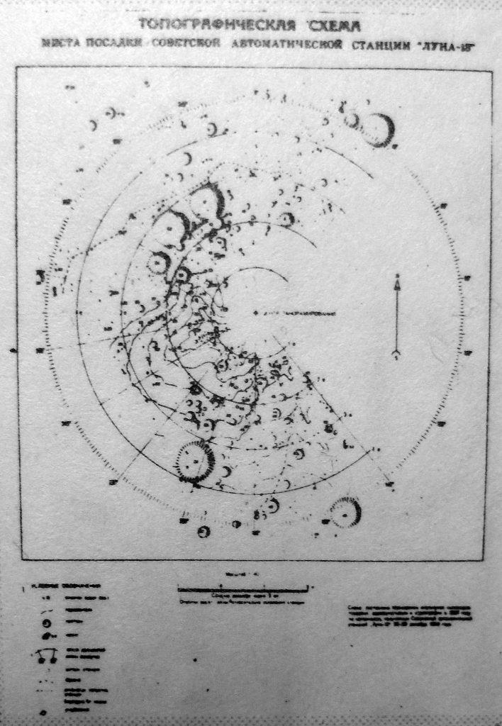 Luna 13 landing site map