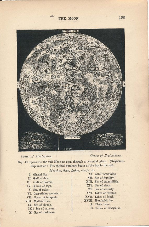 Guynemer's map of the Moon