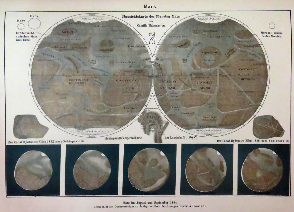 Map of Mars (1898)