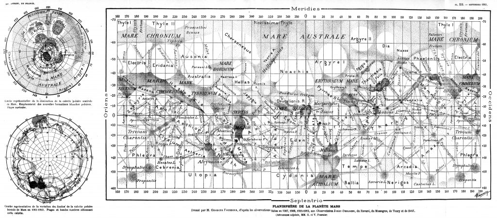 Fourniers' map of Mars (1913)