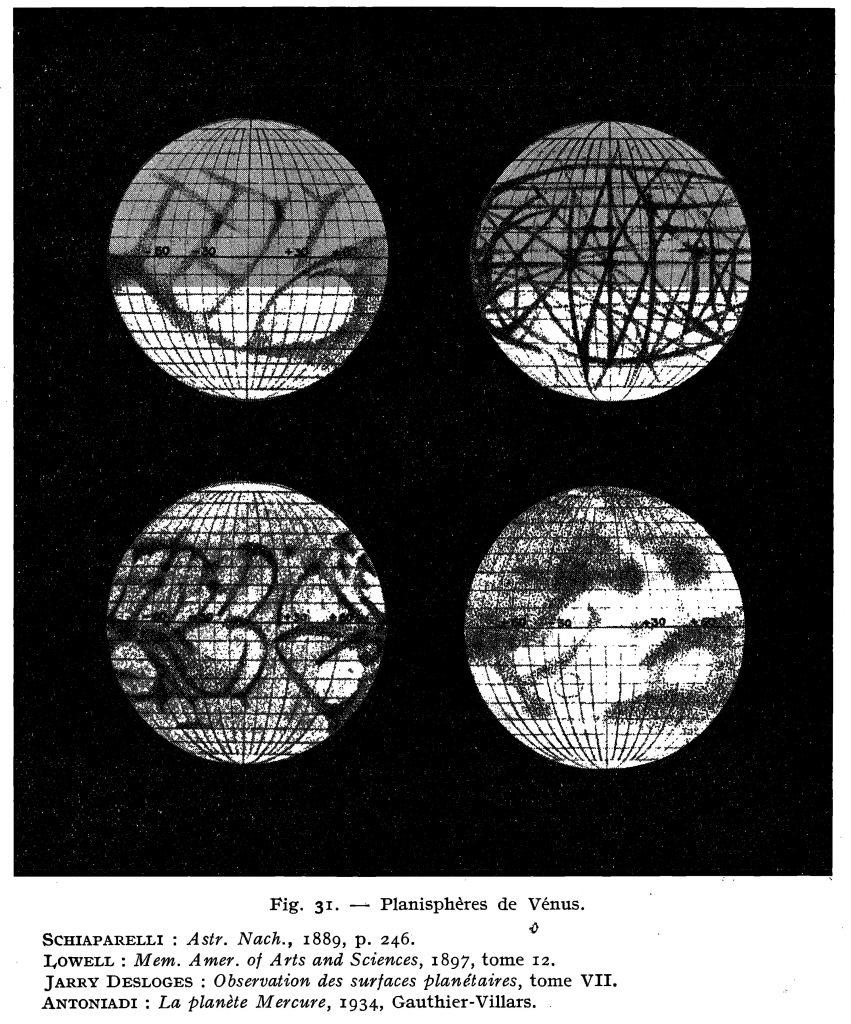 Early maps of Mercury