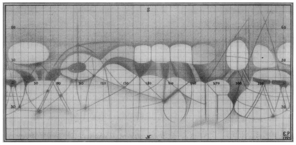 Perepelkin's map of Mars (1924)