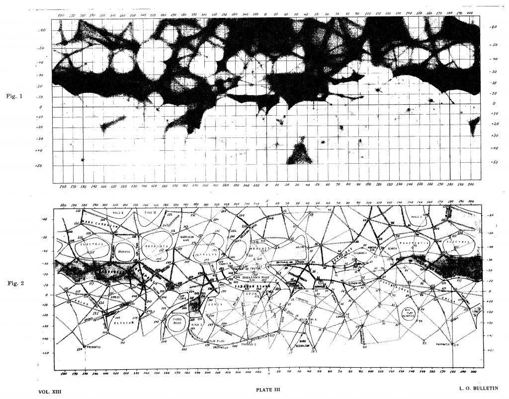 Trumpler's map of Mars (1924)