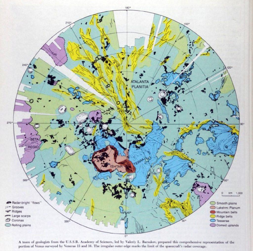 Venera Map of Venus