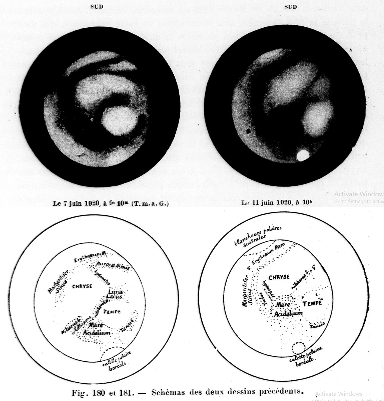 Gabrielle Flammarion's maps of Mars (1920)
